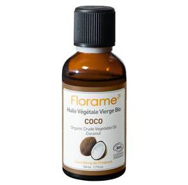 Coconut Crude Vegetable Oil - Florame - Massage and relaxation