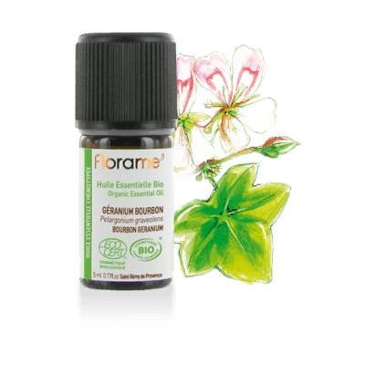 Organic essential oil Bourbon geranium - Florame - Massage and relaxation