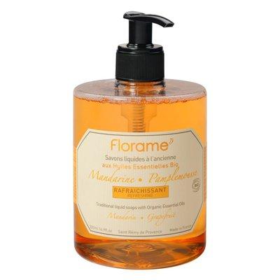Savon liquide à l'ancienne Mandarine-Pamplemousse - Florame - Hygiène