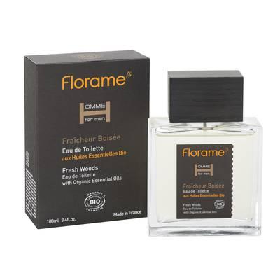 Eau de Toilette Fraîcheur Boisée - Homme for Men - Florame - Parfums et eaux de toilette