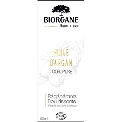 huile d'argan pure - Biorgane - Visage - Cheveux - Massage et détente - Corps