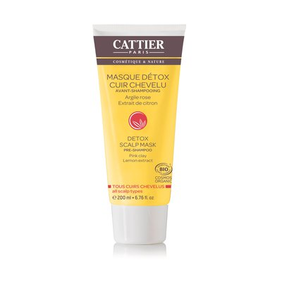 Masque détox cuir chevelu Avant-Shampooing - CATTIER - Cheveux