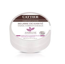 Beurre de karité - Parfum fleur des îles - CATTIER - Corps