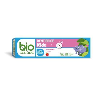 Dentifrice Kids au fluor fraise - Biosecure - Hygiène - Bébé / Enfants