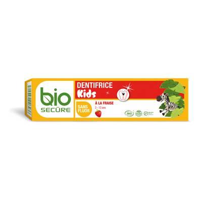Dentifrice Kids fraise - Biosecure - Hygiène - Bébé / Enfants