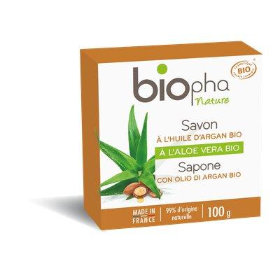Savon à l'huile d'argan - Biopha Nature - Hygiène