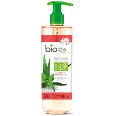Gel douche parfum de pulpe grenade - Biopha Nature - Hygiène