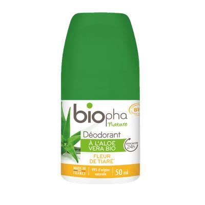 Déodorant sans sels d'aluminium parfum fleur de tiaré - Biopha Nature - Hygiène