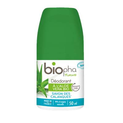 Déodorant sans sels d'aluminium parfum savon des calanques - Biopha Nature - Hygiène