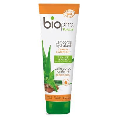 Lait corps hydratant parfum caresse d'abricot - Biopha Nature - Corps
