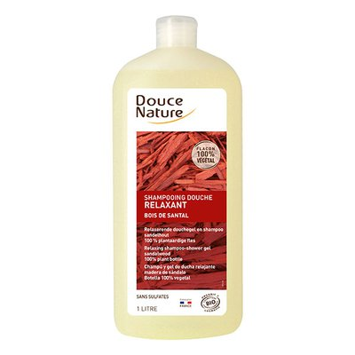 Shampooing douche santal - Douce Nature - Cheveux