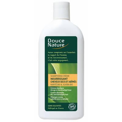Shampooing crème cheveux secs et abîmés - Douce Nature - Cheveux