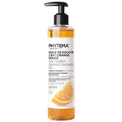 Huile de douche 2 en 1 à l'orange douce - PHYTEMA Skin care - Hygiène