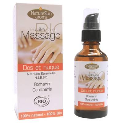 Huile de massage dos et nuque - NatureSun Aroms - Massage et détente