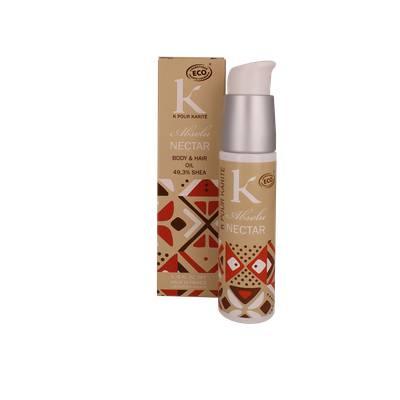 Absolu Nectar -Huile corps & cheveux 49.3% Karité - K POUR KARITE - Cheveux