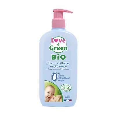 Eau Micellaire Nettoyante BIO pour bébé - Love & Green - Visage - Bébé / Enfants - Corps