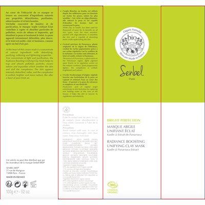 Masque Argile Unifiant éclat - Senbel Bio - Visage