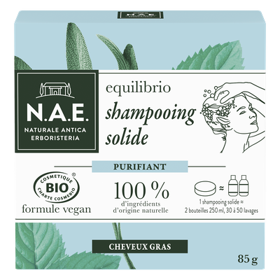 equilibrio shampooing solide purifiant - cheveux gras - N.A.E. - Cheveux