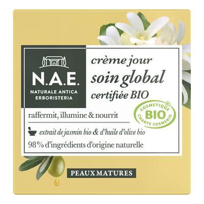 crème jour soin global certifiée bio - Peaux matures - N.A.E. - Visage