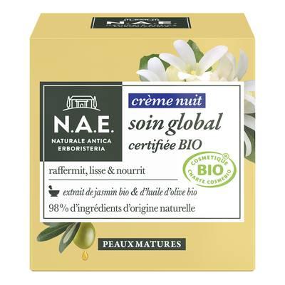 crème nuit  soin global certifiée bio - Peaux matures - N.A.E. - Visage