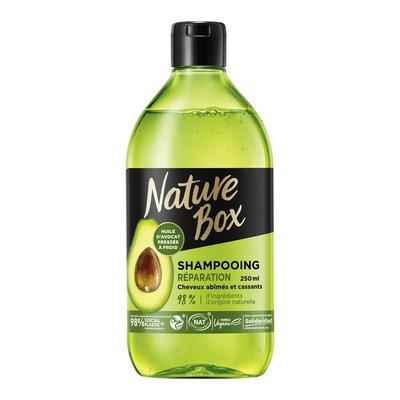 Shampooing Réparation (à l'huile d'avocat) - Cheveux abîmés et cassants (Flacon 250ml) - Nature Box - Cheveux