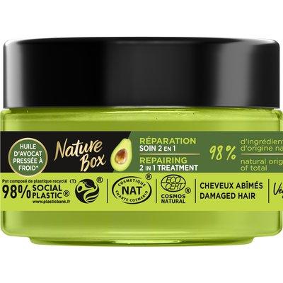 Soin 2en1  Réparation (à l'huile d'avocat) - Cheveux abîmés  (pot 200ml) - Nature Box - Cheveux