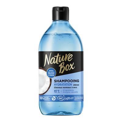 Shampooing Hydratation (à l'huile de coco) - Cheveux normaux à secs (Flacon 250ml) - Nature Box - Cheveux