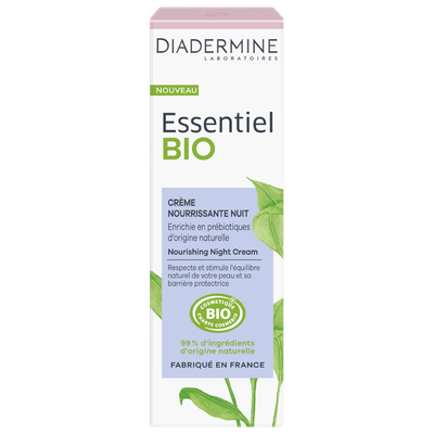 crème nourrissante nuit - Diadermine Essentiel Bio - Visage