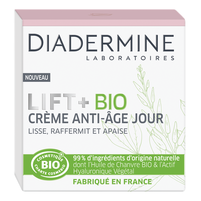 crème anti-âge jour - Diadermine LIFT+ Bio - Visage