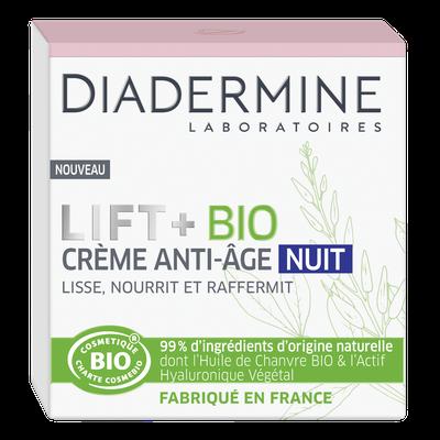 crème anti-âge nuit - Diadermine LIFT+ Bio - Visage