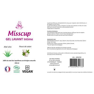 Gel Lavant Intime - MISSCUP - Hygiène