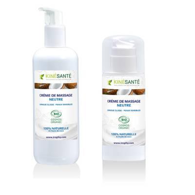 Crème de Massage Neutre - KINESANTE - Massage et détente - Corps