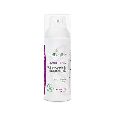 Huile végétale de Macadamia BIo - KINESOINS - Cheveux - Massage et détente - Ingrédients diy - Corps