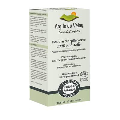 Poudre d'argile verte du Velay - Ultra-ventilée - Argile du velay - Visage - Corps - Cheveux