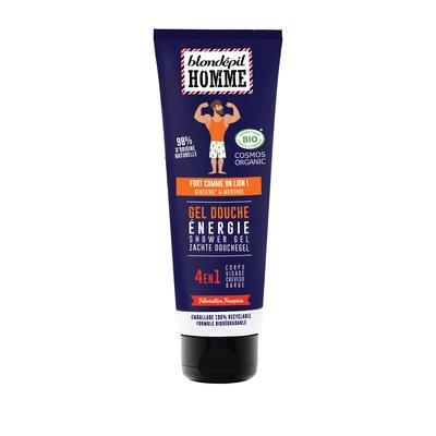 Gel douche Energie 4 en 1 corps, cheveux, visage & barbe - BLONDEPIL HOMME - Hygiène