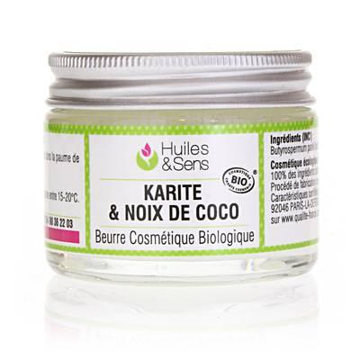 Beurre de Karité & Noix de Coco Bio - Huiles & Sens - Visage - Corps - Ingrédients diy