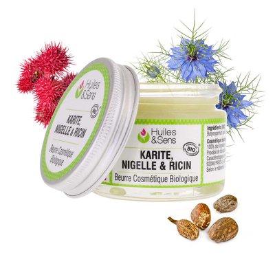 Beurre de Karité & Nigelle & Ricin Bio - Huiles & Sens - Visage - Ingrédients diy - Corps