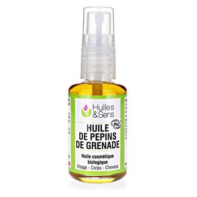 HUILE DE PÉPINS DE GRENADE - Huiles & Sens - Massage et détente