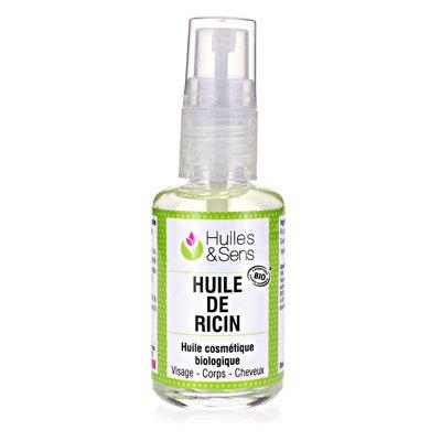 HUILE DE RICIN - Huiles & Sens - Cheveux - Massage et détente - Ingrédients diy