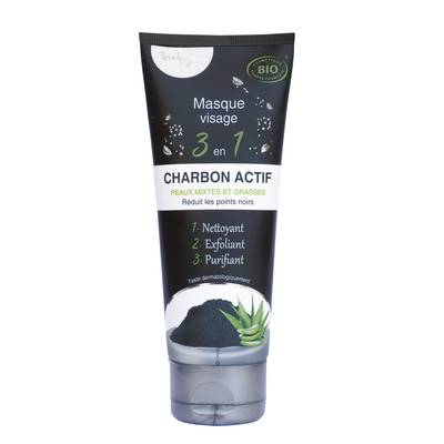 masque visage 3 en 1 charbon - Bio4You - Visage