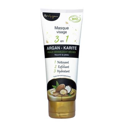 masque visage 3 en 1 argan-karité - Bio4You - Visage