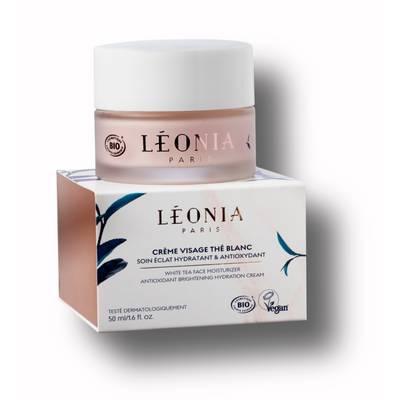 Crème Visage Thé Blanc, Soin Éclat Hydratant et Antioxydant - LEONIA COSMETIQUES - Visage