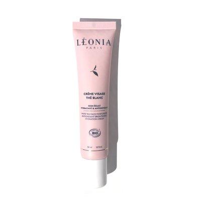 Crème Visage Thé Blanc - Soin Éclat Hydratant et Antioxydant - Léonia - Visage