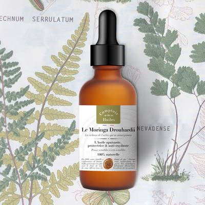 Moringa Drouhardii - vegetable oil - Comptoir des Huiles - Face - Body - Hair