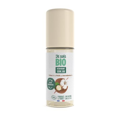 déodorant roll-on coton - huile de macadamia - JE SUIS BIO - Hygiène