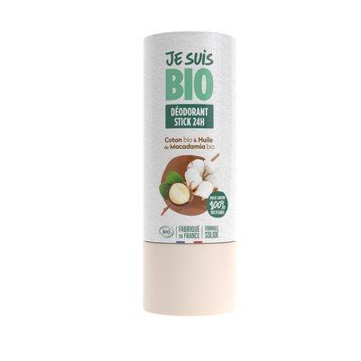 déodorant stick coton-huile de macadamia - JE SUIS BIO - Hygiène