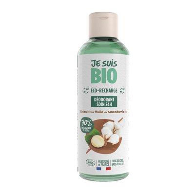 eco-recharge déodorant coton-huile de macadamia - JE SUIS BIO - Hygiène