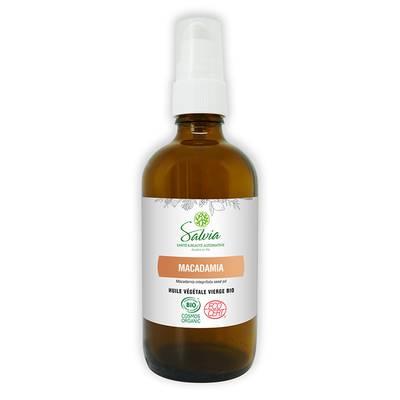 Huile végétale de macadamia - Salvia Nutrition&cosmétiques - Ingrédients diy
