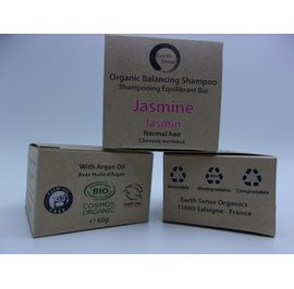 Balancing Solid Shampoo - Jasmine - Normal & all Hair Types - Earth Sense - Hair
