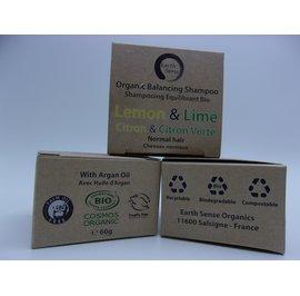 Balancing Solid Shampoo - Lemon & Lime - Normal & all Hair Types - Earth Sense - Hair